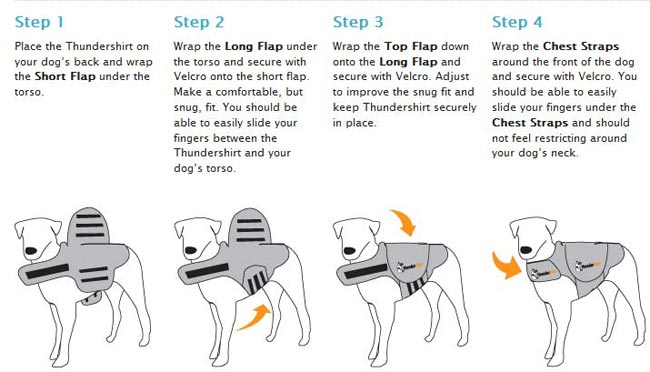 thundershirt dog coat instructions