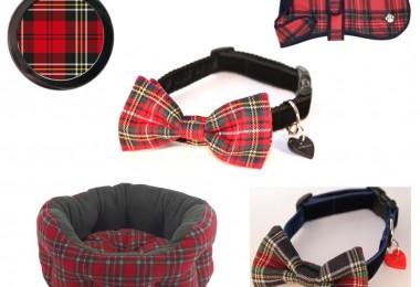 tartan dog collars, tartan dog beds