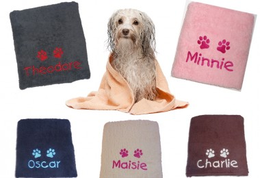 personalised dog towels by My Posh Paws UK
