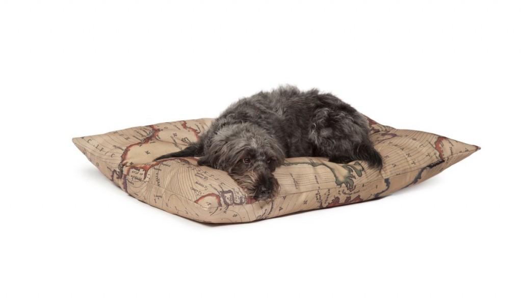 Danish Design Vintage Maps Dog Bed