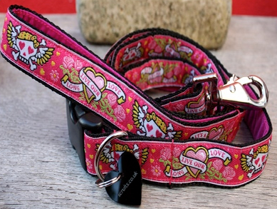 Captain Gracie Designer Dog Collar and Lead Set Scrufts