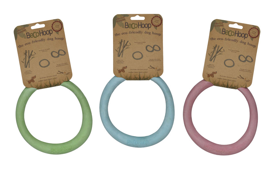beco things beco hoops eco dog toys