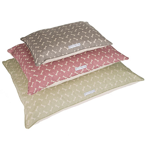 mutts and hounds linen bones pillow dog beds
