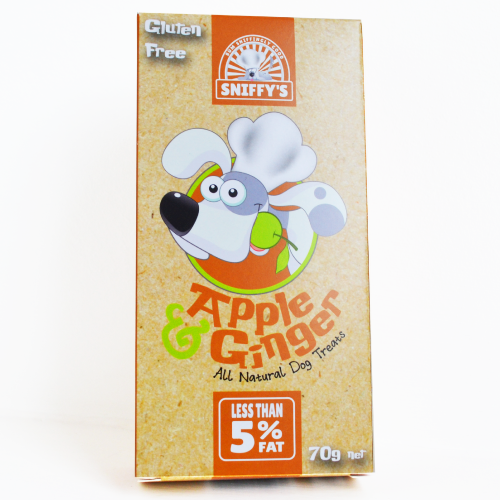 Sniffy's All Natural Dog Treats Apple and Ginger Gluten Free