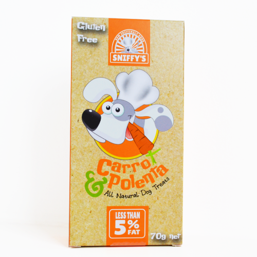 Sniffy's All Natural Dog Treats Carrot and Polenta Gluten Free