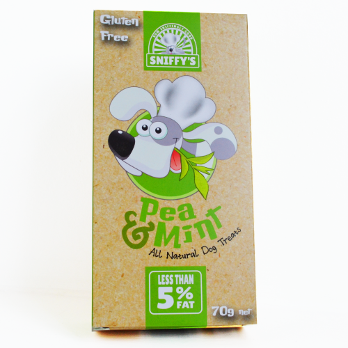 Sniffy's All Natural Dog Treats Pea and Mint Gluten Free