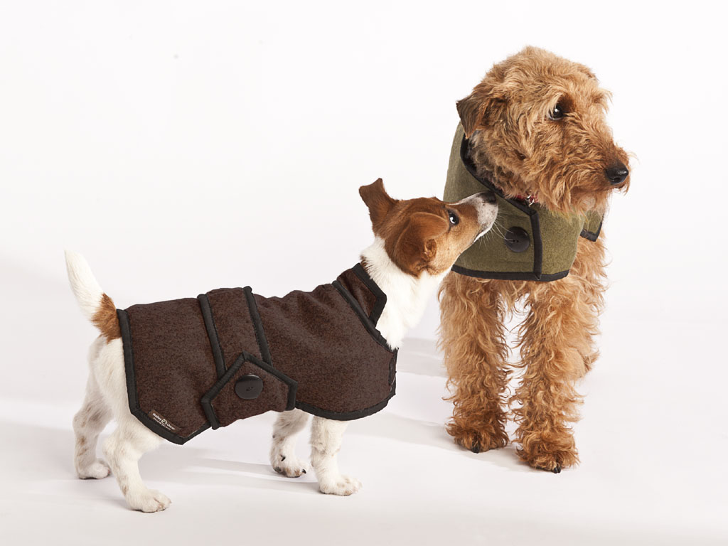 Luxury Woollen blazer style dog coat uk
