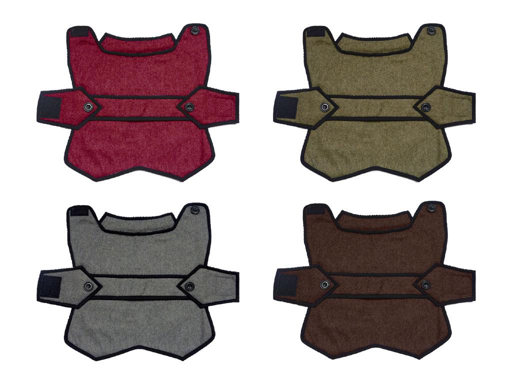 Luxury Woollen blazer style dog coat colours uk