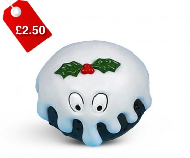 Plum Pudding Christmas Dog Toy 1