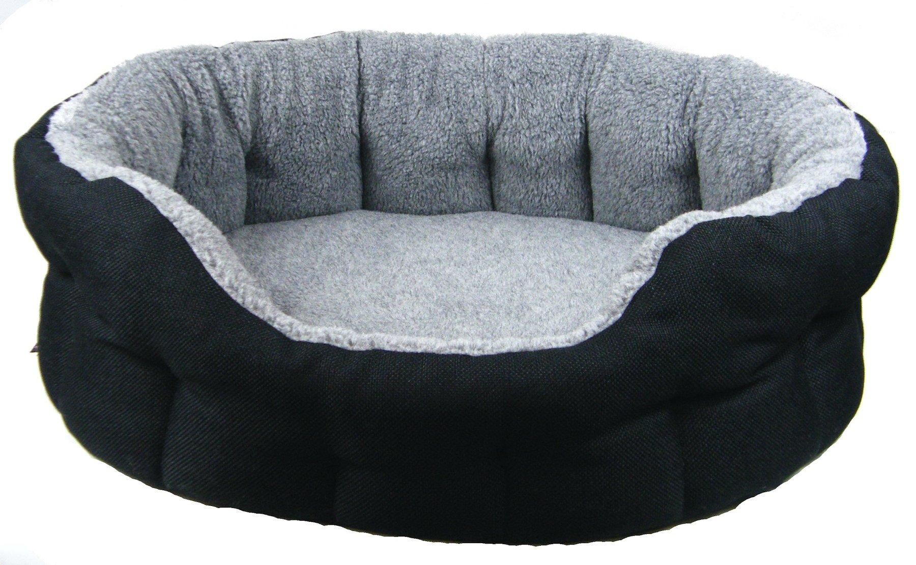 Basket Weave and Fleece Puppy Beds Black