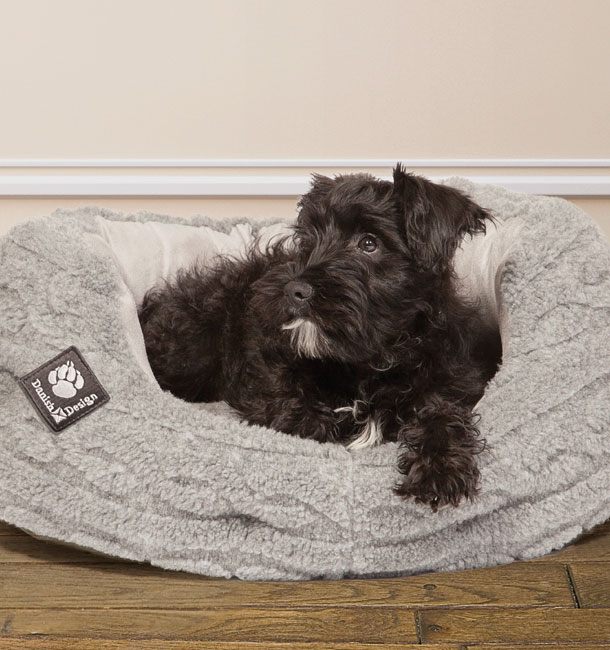 bobble range soft pewter slumber dog bed