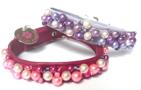 Pearl Necklace Designer Dog Collars For Chihuahuas