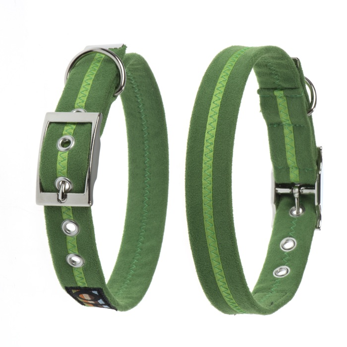 Oscar and Hooch Signature Dog Collar Apple Green