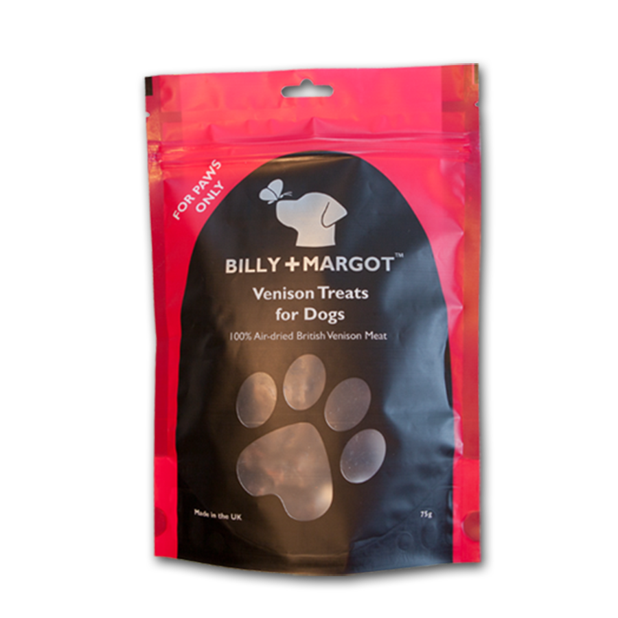 Natural 100% Venison Luxury Dog Treats by Billy and Margot