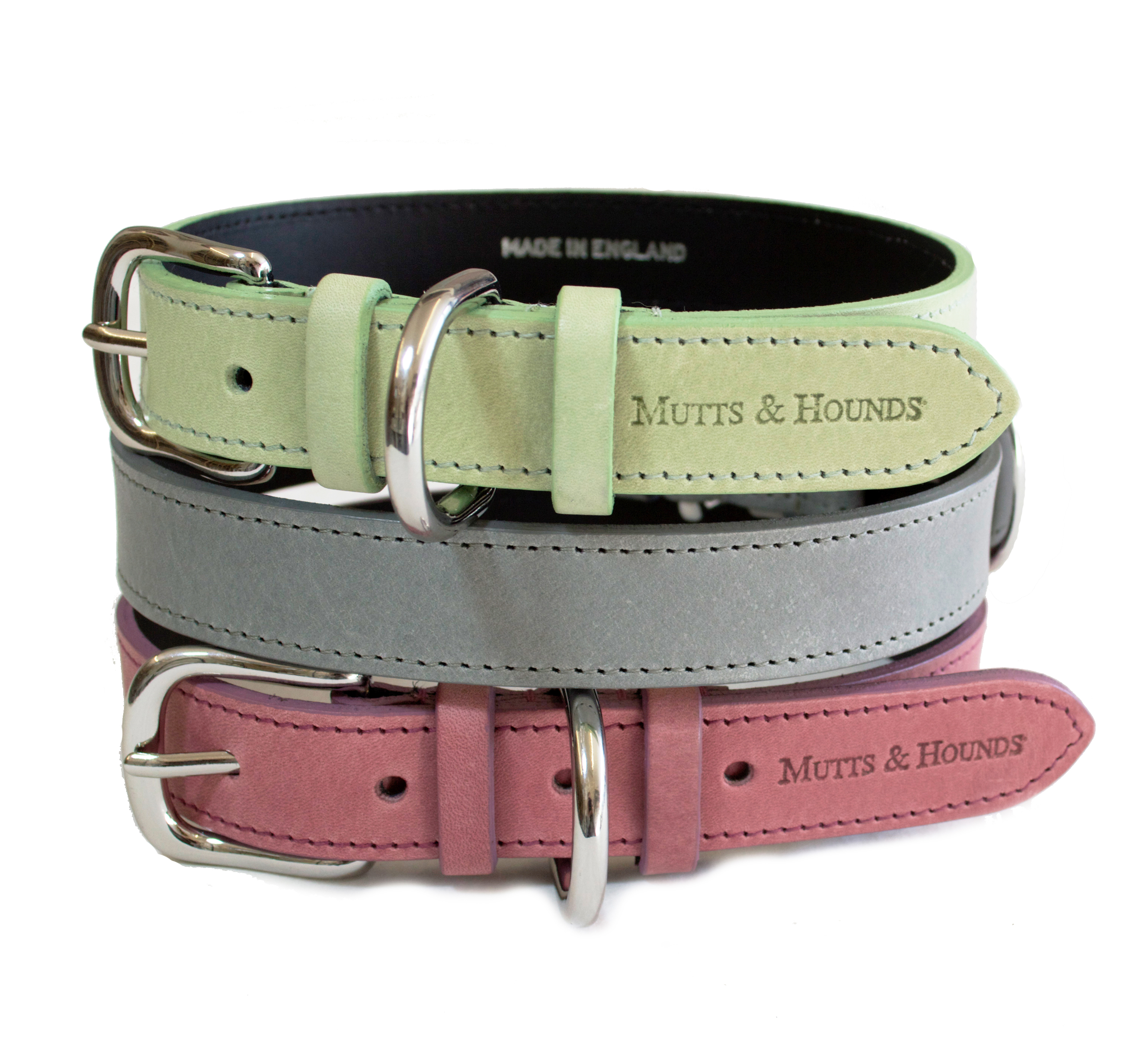 New Pastel Collection Dog Collars and Leads by Mutts and Hounds