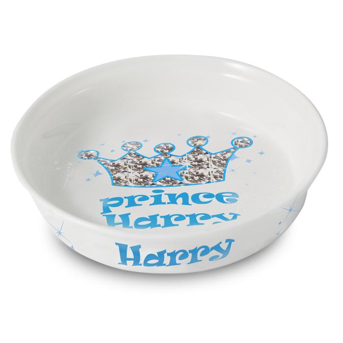 Bling Prince Personalised Dog Bowl