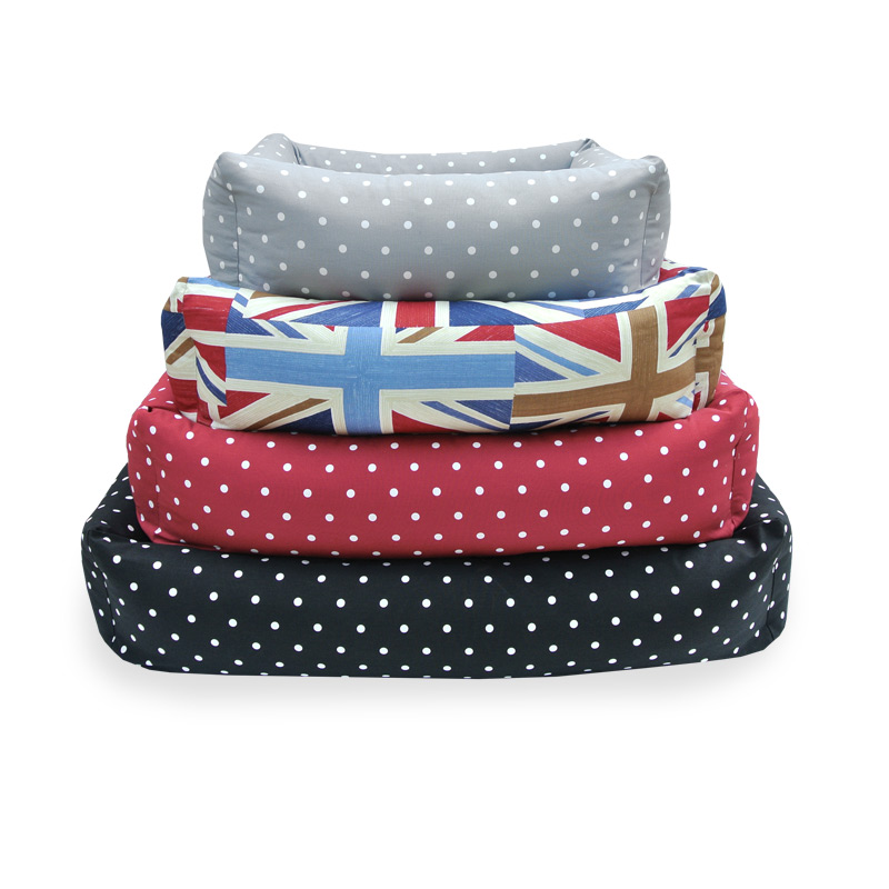 Hugo & Hennie Luxury Combination Bolster Dog Beds Classic Fabric Range