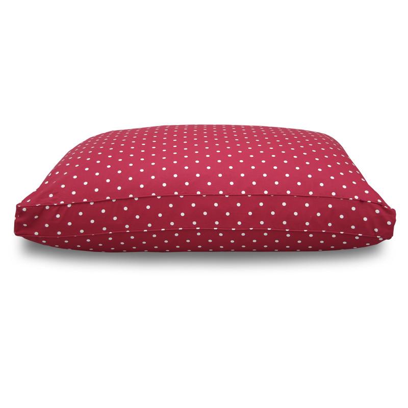Hugo & Hennie Luxury Berry Red Dotty Mattress Dog Bed