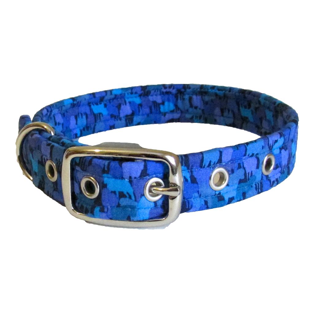 Blue Pony Liberty of London Designer Dog Collar UK