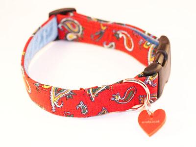 Cisco Designer Red Dog Collar