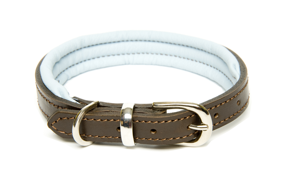 Dogs & Horses Colours Collection Leather Blue Dog Collars