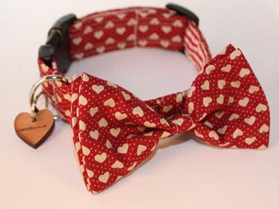 Dickie Valentine Bow Tie Designer Dog Collar