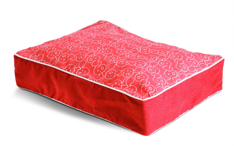 Crypton Dog Eared Designer Red Dog Bed