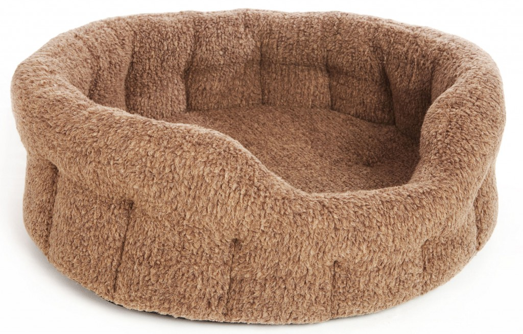 Superior Fleece Drop Front Oval Dog Beds by Pets And Leisure