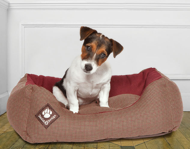Heritage Houndstooth Snuggle Bed beds for staffies