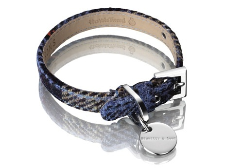Harris Tweed Designer Dog Collars by Hennessy and Sons