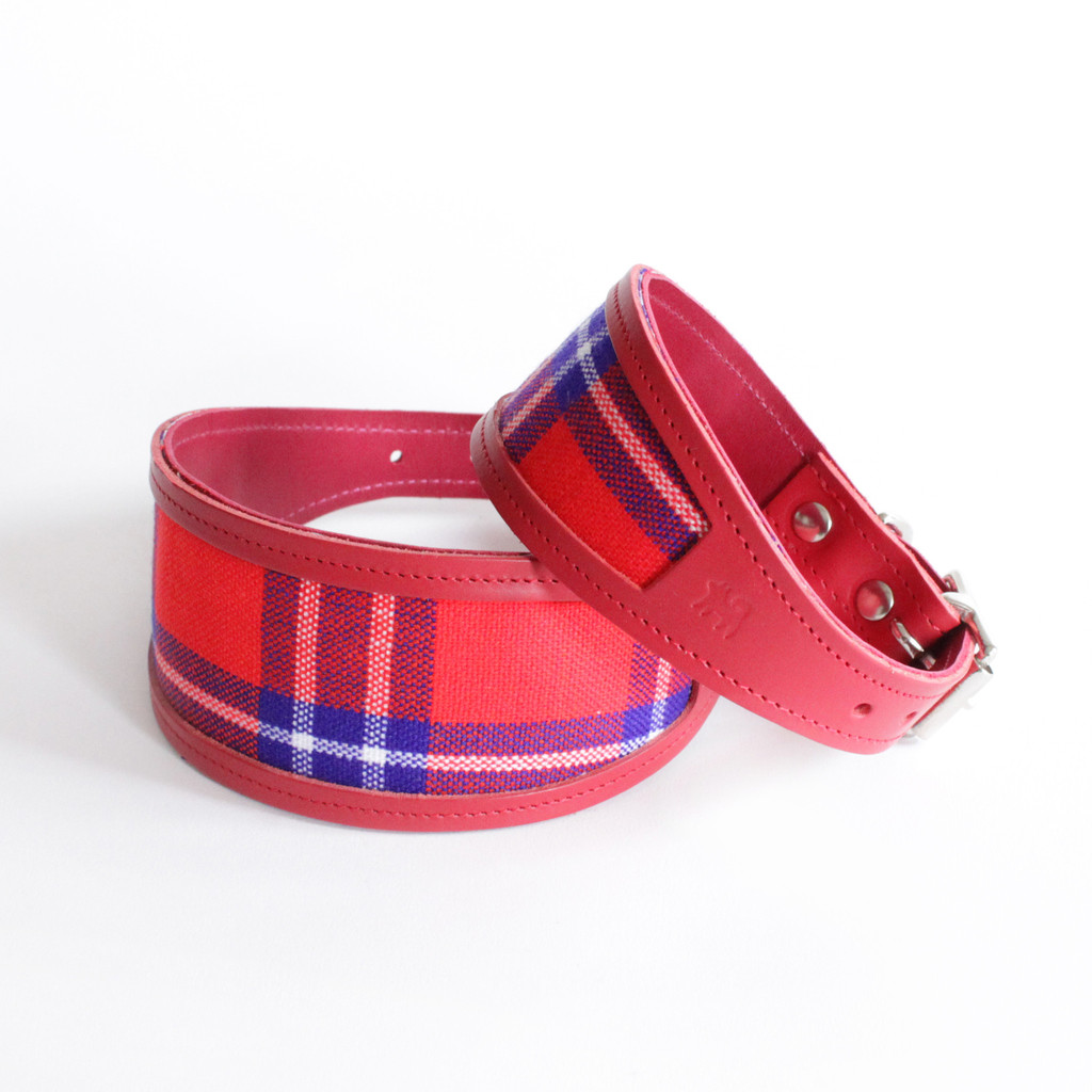 Leather Tartan Dog Collars And Leads