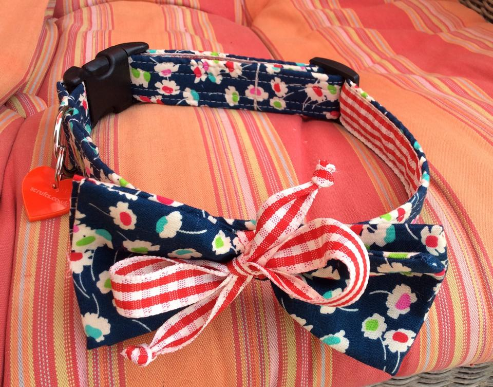 June Bug Bow Tie Funky Dog Collar