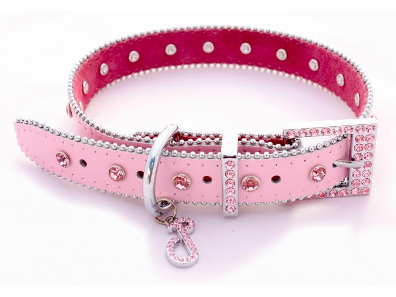 Monte Carlo Pink Dog Collar