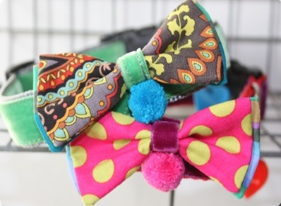 Mr and Mrs Punch Bow Tie Designer Dog Collar