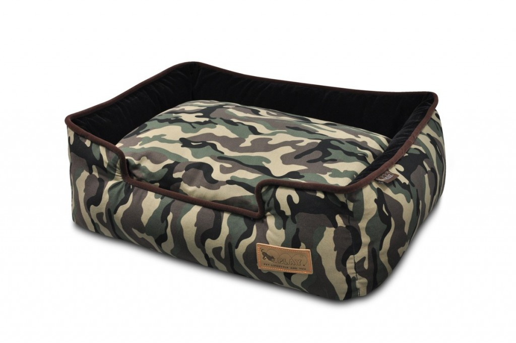 P.L.A.Y Lounger Dog Beds for staffies Camouflage