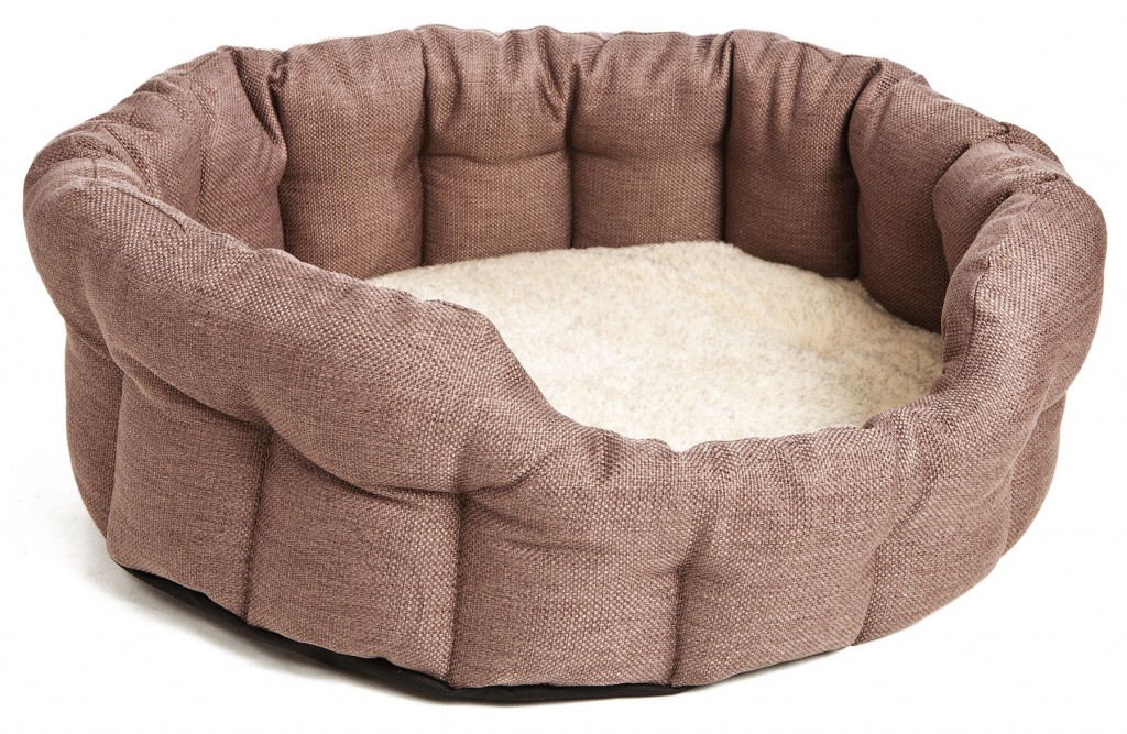 Superior Basket Weave Drop Front Oval Dog Beds for Staffies