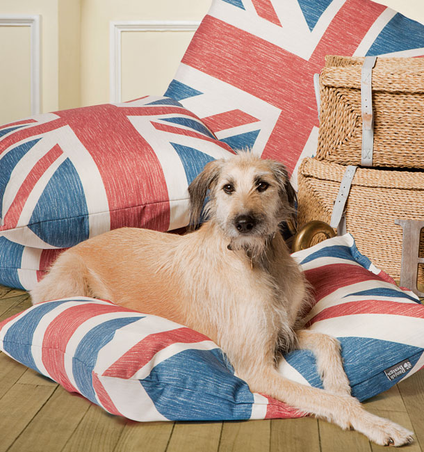 Union Jack Deep Duvet Dog Bed by Danish Design