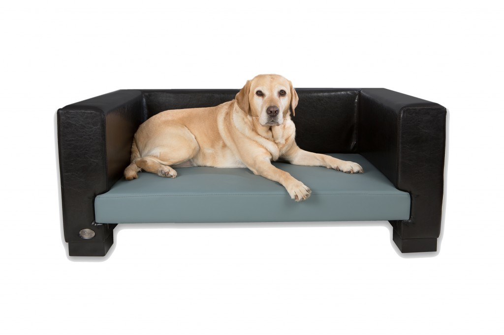 Windsor Luxury Leather Dog Sofa Bed by Chester and Wells