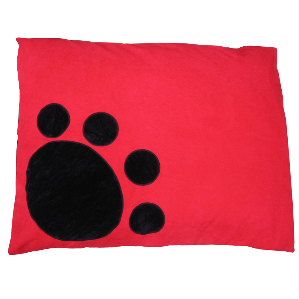 Corner Paw Red Dog Bed by Creature Clothes