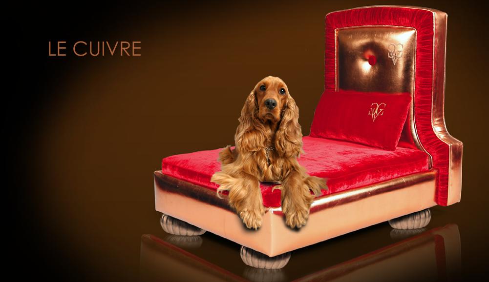 Chien Vivant Couture Le Cuivre Fancy Dog Bed