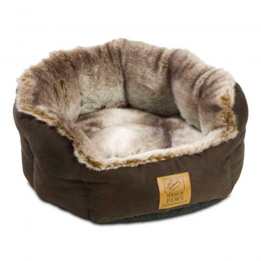 Arctic Fox Faux Fur Luxury Dog Beds for Chihuahuas by House of Paws