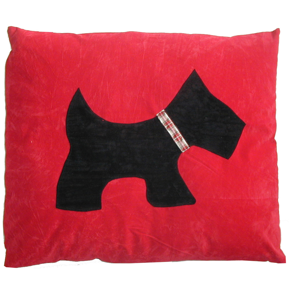 Scottie Doza Red Dog Bed by Creature Clothes