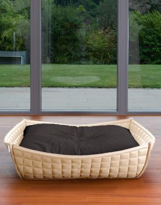 Luxury Leather Orthopaedic Bowl Dog Bed
