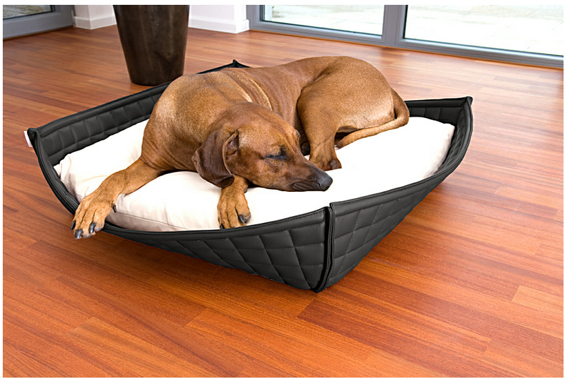 Luxury Leather Orthopaedic Bowl Dog Bed