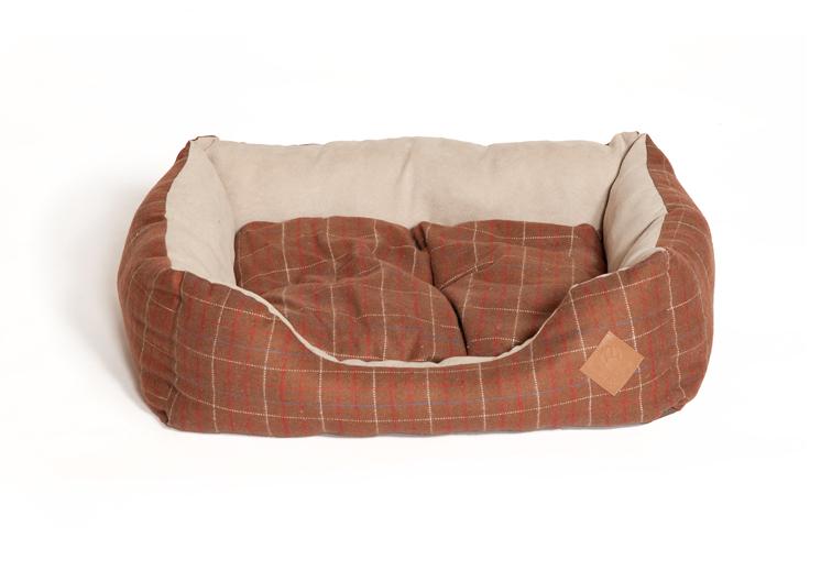 Brown Tweed Snuggle Dog Bed by Danish Design