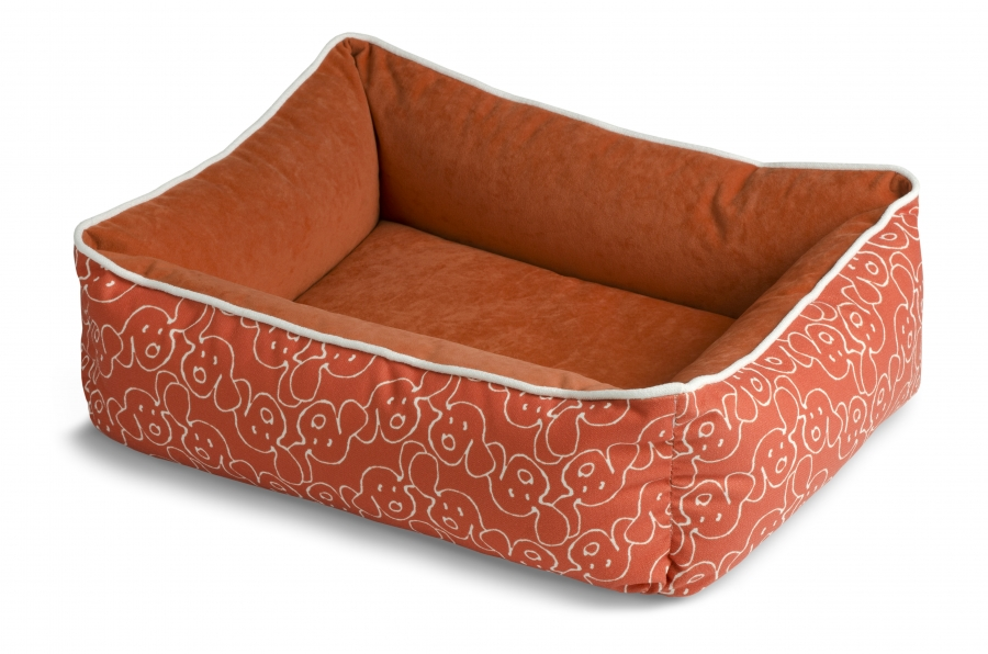 Crypton Dog Eared Bumper Dog Bed Persimmon