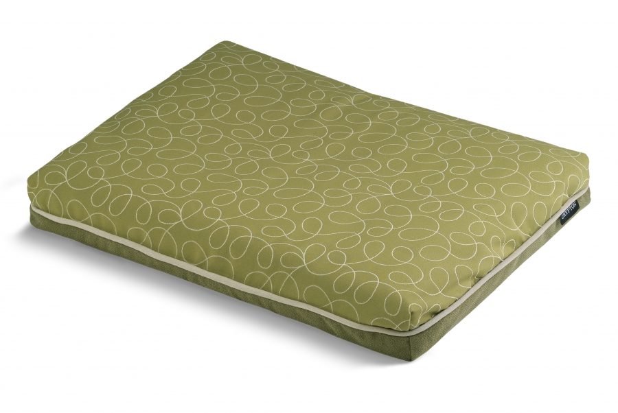 Crypton Orthopaedic Futon Loopy Green | Orthopaedic Dog Beds