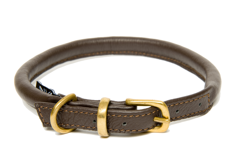 Brown Rolled Leather Collars