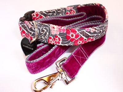 Litlington Dog Collar and Velvet Lead Set