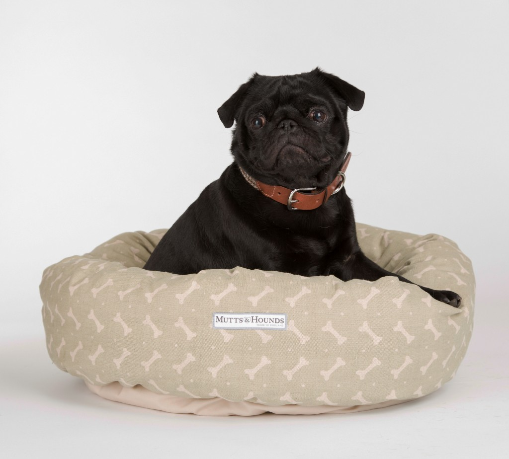 aa373d2bfd2 Mutts and Hounds Linen Bones Donut Dog Beds